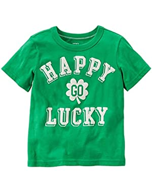 Carters Baby Clothing Outfit Boys Happy Go Lucky Tee T-shirt Green