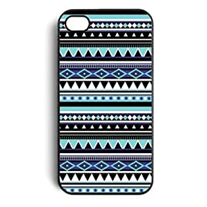 Blue Tribal Pattern Floral Snap On Case Cover for Apple iPhone 4 iPhone 4s New
