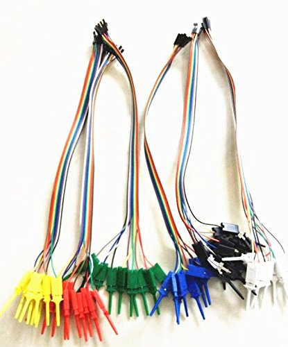 Logic Analyzer Probe - New Logic Analyzer Cable Probe Test Hook Clip Line 10 channels Random Color