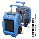 BlueDri BD-100LGR Blue Commercial Dehumidifier for Water Damage Restoration Flood Moisture Mold Removal Water Treatment Janitorial Use