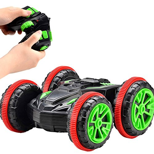 Physport Rc Car Toys Remote Control Amphibious Cars Boat Off Road Vehicle Double Sided Stunt Truck Tank 360 Degree Spins And Flips