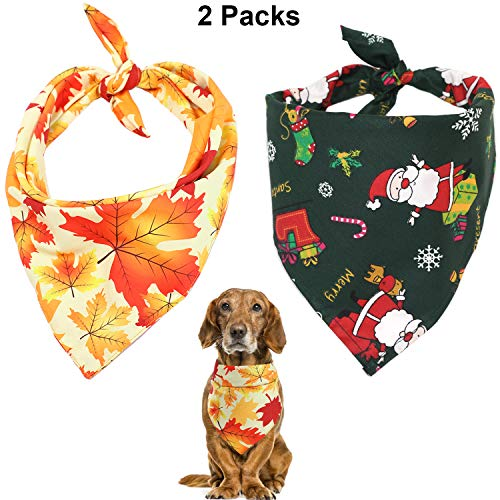 2 pc Fall & Christmas Bandannas