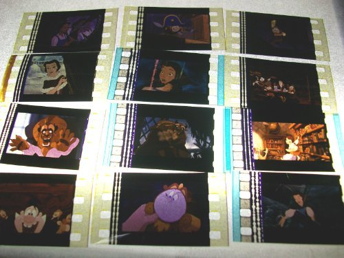 BEAUTY & THE BEAST animation Lot of 12 35mm film cells Collectible Memorabilia Complements Poster Book Theater