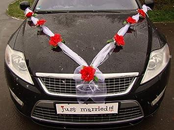 Decoration De Voiture De Mariage.Guirlande M Voiture Bijoux De Mariage Rose Decoratif Decoration Voiture Mariage Bijoux Car Wedding Guirlande De Decoration Voiture Rouge Blanc