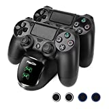 Cheap FlexDin LED Dual Charger for PS4 Controller – PlayStation 4 DualShock 4 Controller Charging Station – Black
