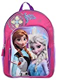 "Best Frozen Backpacks - Disney Frozen Girls' 16"" All-in-One Sparkling Pink ""Sisters Review"