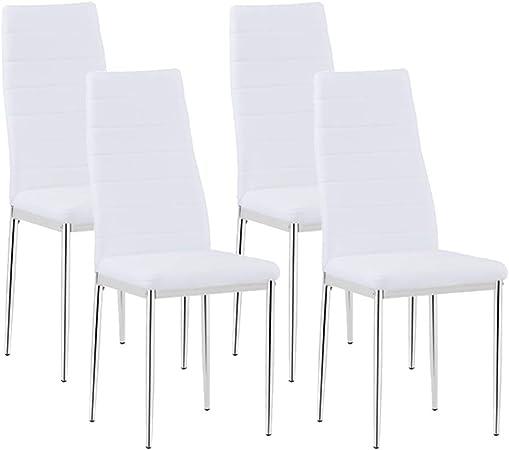 Goldfan Lot De 4 Chaise Salle à Manger Haute Elevée Moderne
