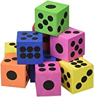 Fun Express Large Foam Playing Dice (1 dz)
