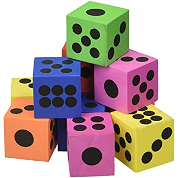 Large Foam Playing Dice (1 dz)