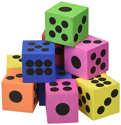 Fun Express 853031060587 Dice - Foam Playing Dice