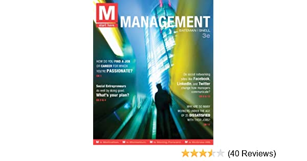 M management 3rd edition thomas bateman scott snell m management 3rd edition thomas bateman scott snell 9780078029523 amazon books fandeluxe Choice Image