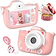 CamOn Digital Kids Camera for Girls - Selfie Camera for Kids Age 3+ with Flash 32 GB - 12 MP Premium Toddler C