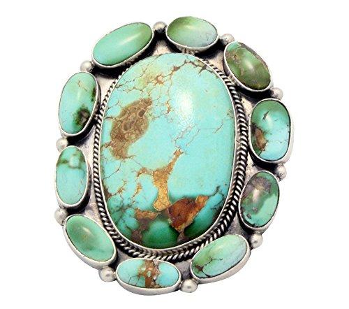 Donovan Cadman, Ring, Royston Turquoise, Cluster, Silver, Navajo (Navajo Silver Turquoise Cluster)