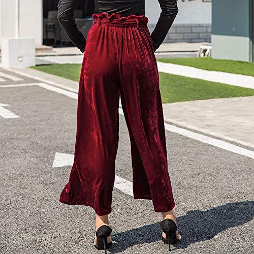Fascia Donna Velluto S Dritta Con Cintura Palazzo xl Pantalone Rosso Dragon868 Donna 8HwqAFZ