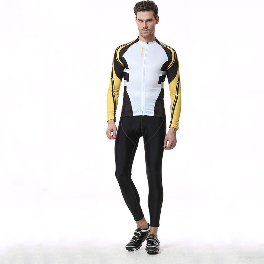 Qsjb XINTOWN Frühling Herbst Männer Unisex Breathable Bequeme Langarm gepolsterte Hosen Radfahren Bekleidung Set Reiten Sportbekleidung