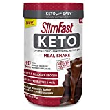 Slimfast Keto Meal Replacement Powder Fudge Brownie Batter Canister, 13.4 oz