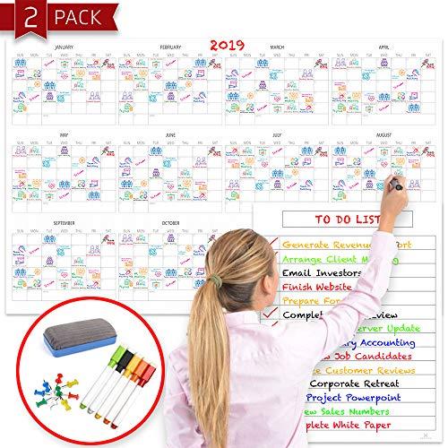 Large Dry Erase Calendar (60