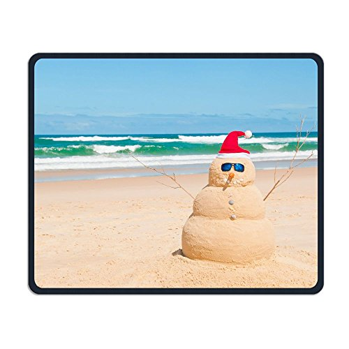 Mouse Pad Australia Beach Snowman Funny Pattern Rectangle Rubber Mousepad Length 8.66 Width 7.09 inch Gaming Mouse Pad with Black Lock Edge