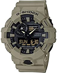 Casio Mens G SHOCK Quartz Resin Casual Watch, Color:Beige (Model: GA-700UC-5ACR)