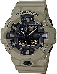 Men's 'G SHOCK' Quartz Resin Casual Watch, Color:Beige (Model: GA-700UC-5ACR)