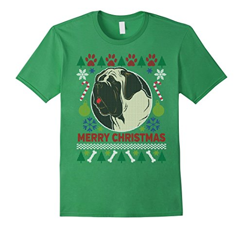 Men's Bull Mastiff Dog Breed Owners Ugly Christmas T-shirt