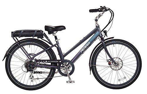 "Pedego City Commuter 26"" Step Thru Black with Black Balloon Package 48V 15Ah"