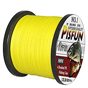 Pisfun superpower 500m 547 yard 1000m 1100 for Best braided fishing line saltwater