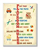 The Kids Room by Stupell Vertical Playroom Rules Rectangle Wall Plaque