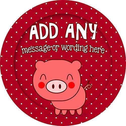 hiusan Pig Piglet Personalized Sticker Lables Christmas Address Labels Envelop Seals Party Favor Tags Lable