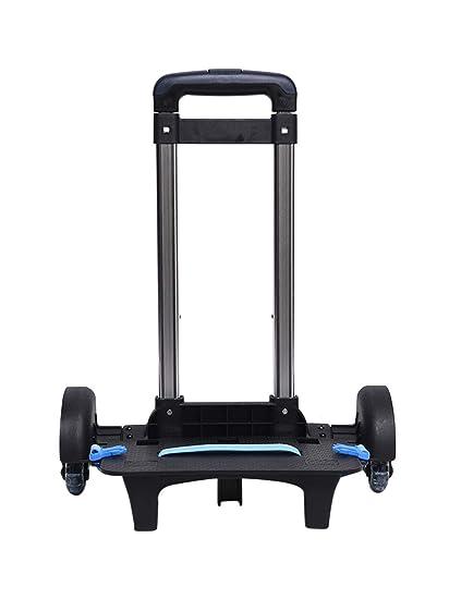 Zhhlaixing Carro para Mochilas 38 x 25 x 84cm Plegable Ligero Resistente 6 ruedas Trolley Cart: Amazon.es: Ropa y accesorios