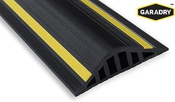 Garadry 1 High Garage Door Flood Barrier Threshold Seal Kit 10 3 Black Yellow Vinyl Complete Kit Includes Adhesive Amazon Com