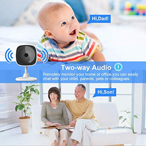 Suntech Home Security Camera - HD Indoor Wireless Smart Home Camera with Night Vision, 2-Way Audio