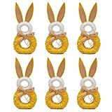DII Napkin Rings for Easter, Spring, Dinners, Parties, or Everyday Use,Set of 6 Bunny