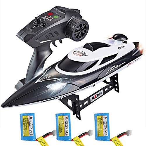 ElementDigital HJ806 RC Boat 2.4GHz 35km/h Fast Remote Control Speedboat with 3 Batteries Professional RC Boat 200m…