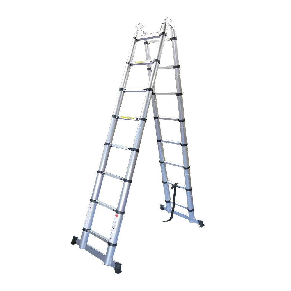 Sarada はしご 梯子 ハシゴ 脚立 足場 多機能はしご 5m 梯子兼用脚立 B079SWDRKQ5.0m