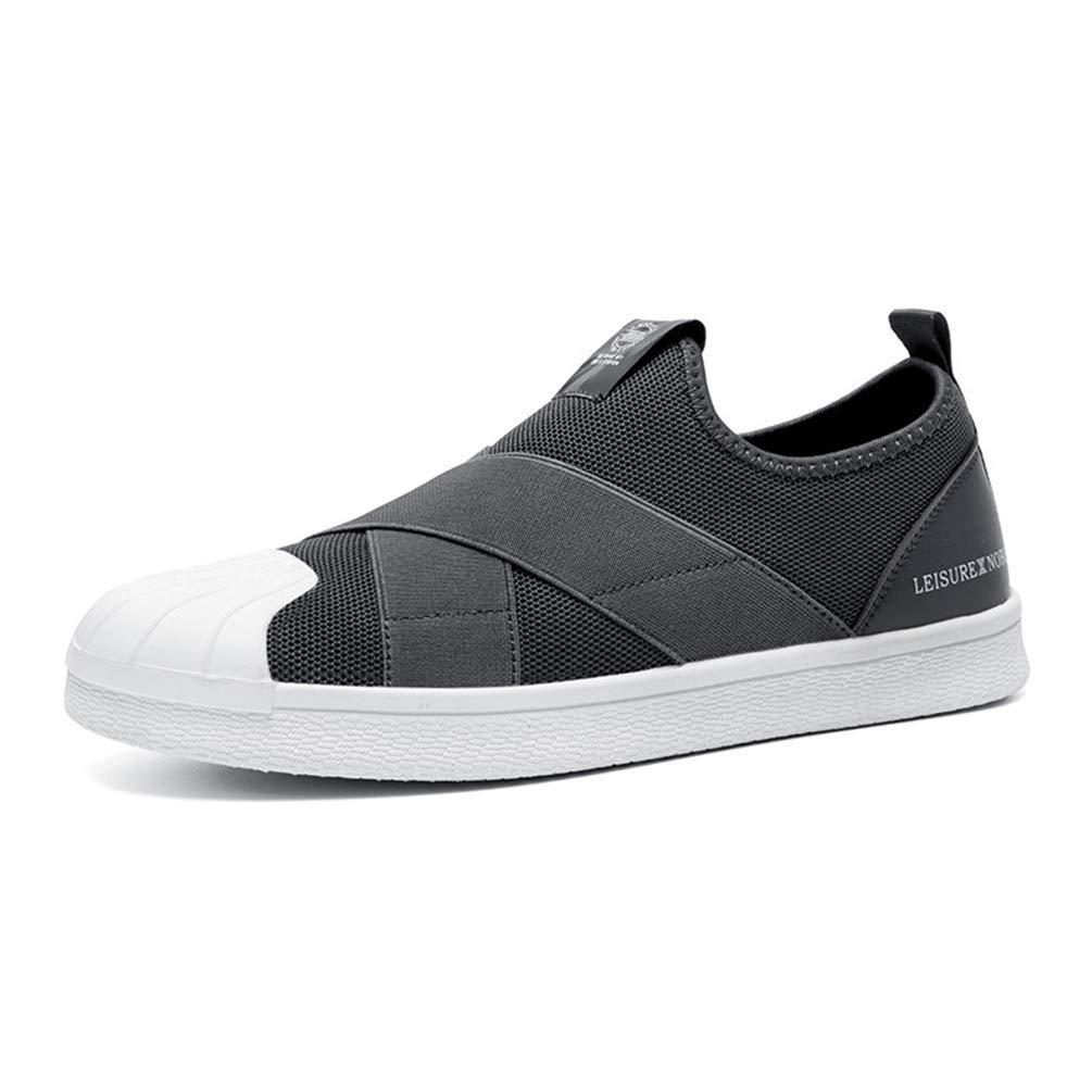 ZHRUI Männer Kausal Schuhe Atmungsaktiv Bequemes Bequemes Bequemes Mesh Silp On Turnschuhe (Farbe   Grau, Größe   8.5UK=43 EU) 82c162