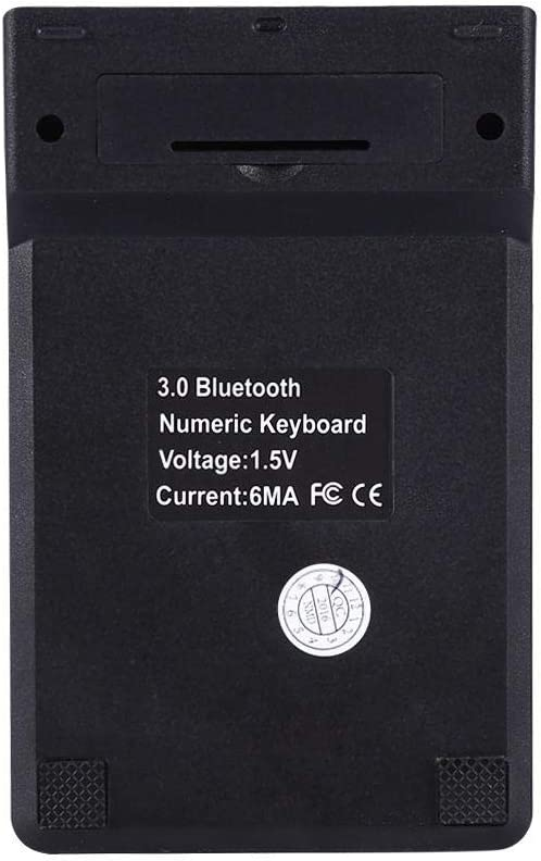 Slim 18-Keys External Numeric Keypad Data Entry Digital Keyboard for Laptop Wireless Bluetooth Number Pad PC,Desktop,Surface,Notebook