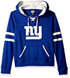 OTS NFL New York Giants Women's Grant Lace Up Pullover Hoodie, Logo, Large