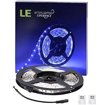 Amazon Com Le 12v Flexible Rgb Led Light Strip Kit Color