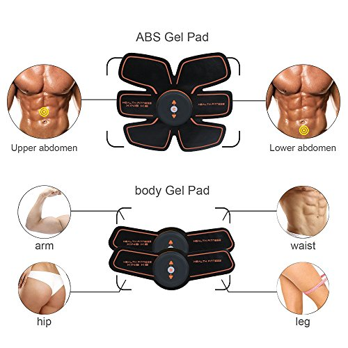 ABS Trainer Ab Belt ,Ailida Abdominal Muscles Toner,Body Fit Toning Belt,Ab Toner Fitness Training Gear Machine Home/Office Ab Workout Equipment Machine for Men&Women