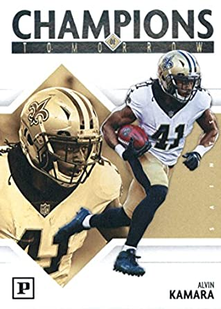 6d7b1f689 2018 Panini Champions of Tomorrow  4 Alvin Kamara New Orleans Saints  Football Card