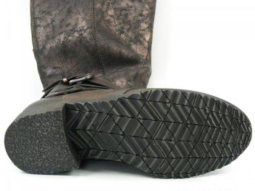 Braun 1 Biker Schuhe Tamaris 31 Stiefel 26603 Damen Varioschaft SXOaqE8x