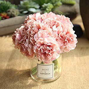Artificial Fake Flowers Plants Silk Flower Arrangements Wedding Bouquets Decorations Plastic Floral Table Centerpieces for Home Kitchen Garden Party Décor 2