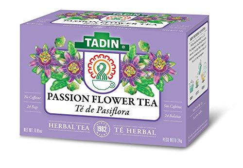 Tadin Herb & Tea Co. Passion Flower Herbal Tea, Caffeine Free, 24 Tea Bags, Pack of 6 (Passion Flower Herb Tea)