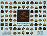 godiva chocolatier patisserie dessert truffle gift box, 12 pieces