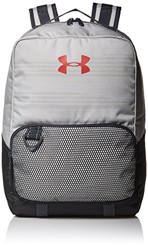 Under Armour Boys' Armour Select Backpack, White (100)/Red, One Size