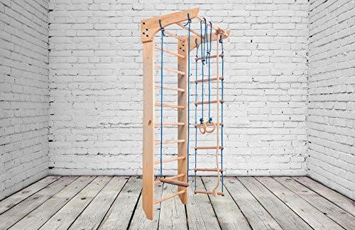 Zona de juegos de madera para interior KN-02-220 Escalera sueca Complejo deportivo de gimnasia: Amazon.es: Deportes y aire libre
