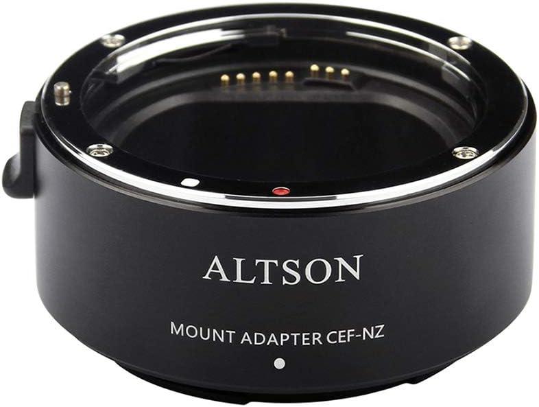 Lepeuxi ALTSON CEF-NZ Anneau Adaptateur de Monture dobjectif Mise au Point Automatique Haute Vitesse Stabilisation is int/égr/ée Anti-tremblement USB mis /à Niveau pour lobjectif /à lappareil