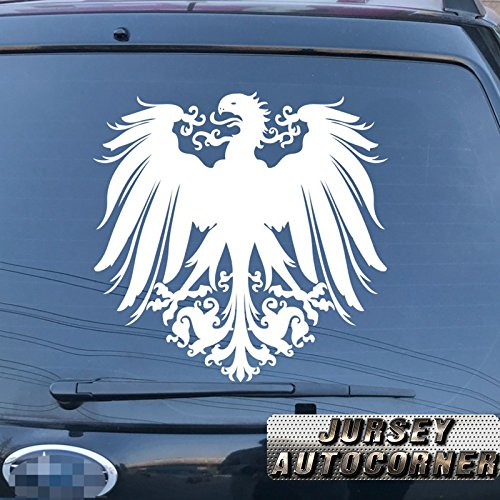Reichsadler 1888-1918 German Empire Army Eagle Car Truck Decal Sticker Vinyl Deutschland Die cut no background pick color size (white, 6'' (15.2cm)) (1918 Auto)