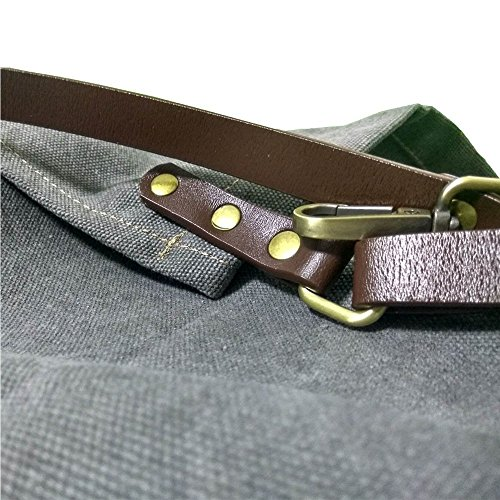 Heavy Duty Gray Waxed Canvas Work Apron With Pockets For Man (31 by 23.62inch) by Luchuan (Image #4)